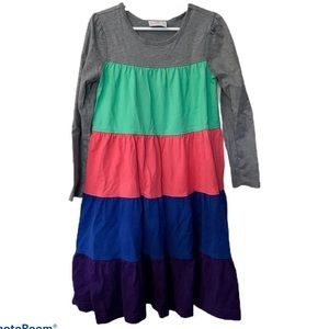 Hanna Andersson 120 Color Block Twirl Girls Dress